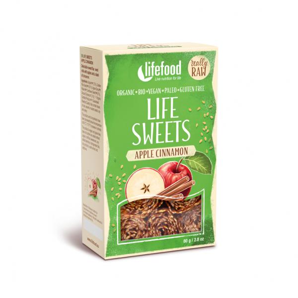 Obrázek Life sweets - Jablečné lněnky se skořicí 80 g LIFEFOOD