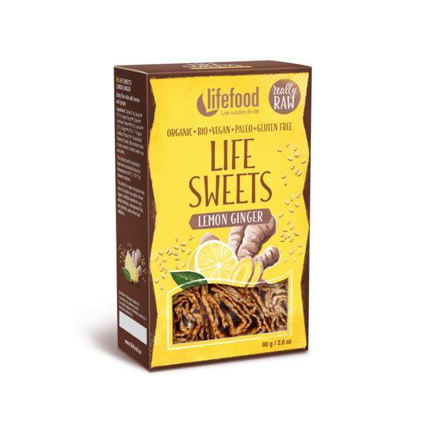 Obrázek Life sweets - Zázvorové lněnky s citronovou kůrou 80 g LIFEFOOD