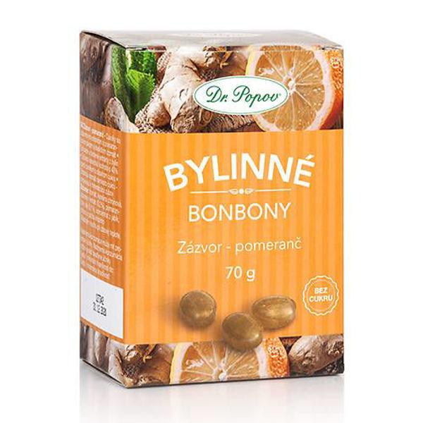 Obrázek Bonbony Zázvor – pomeranč, 70 g DR. POPOV