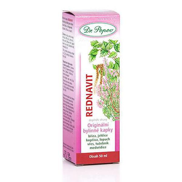 Obrázek Rednavit, originální bylinné kapky, 50 ml DR. POPOV