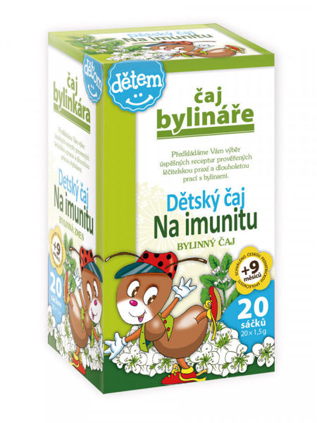 Obrázek Dětský čaj na imunitu 20 x 1,5 g BYLINÁŘ