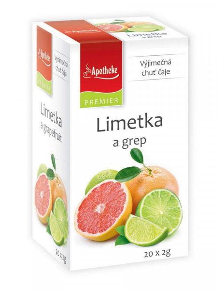Obrázek Limetka a grep čaj 20 x 2 g APOTHEKE