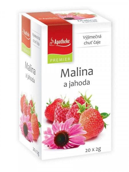 Obrázek Malina a jahoda s echinaceou čaj 20 x 2 g APOTHEKE