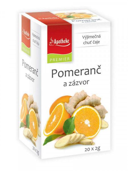 Obrázek Pomeranč a zázvor čaj 20 x 2g APOTHEKE