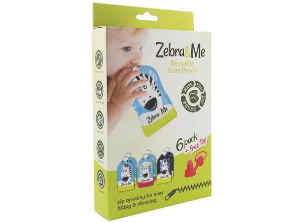 Obrázek Kapsička na dětskou stravu 6 kusů + náústek Zebra & Me