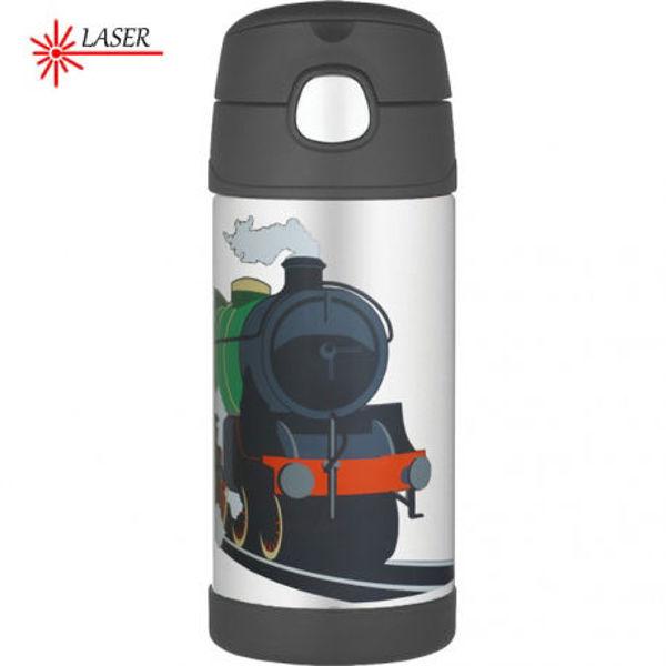 Obrázek Dětská termoska s brčkem vzor vlak Thermos