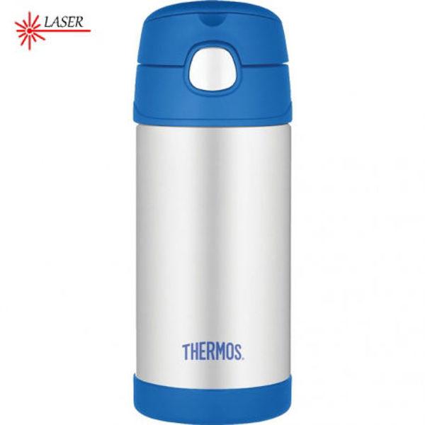 Obrázek Dětská termoska s brčkem modrá Thermos