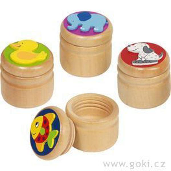 Obrázek Dřevěná krabička na první zoubky Zvířátko Goki