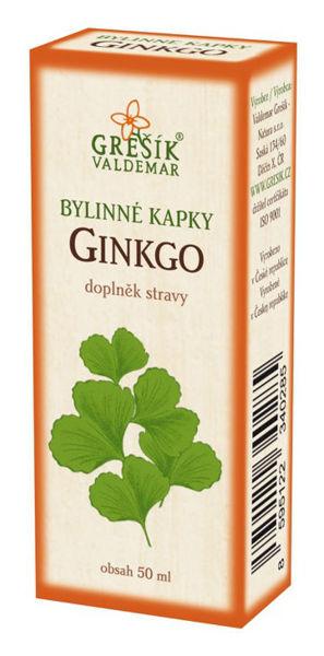 Obrázek Grešík Ginkgo kapky 50 ml