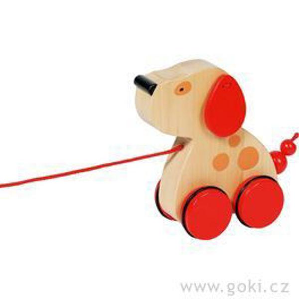 Obrázek Dřevěná tahací hračka - Pejsek Luna Goki
