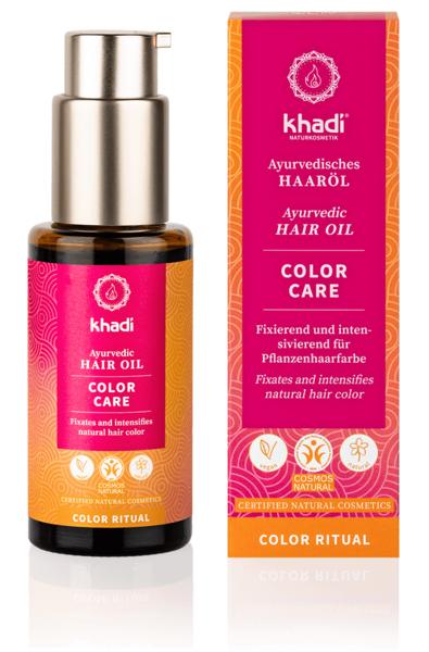 Obrázek Vlasový olej Color care - péče o barvu 50 ml Khadi