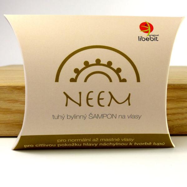 Obrázek Tuhý bylinný šampon Neem 70 g Libebit