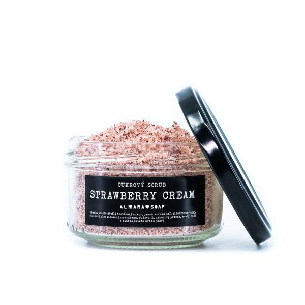 Obrázek SCRUB STRAWBERRY CREAM 140 g ALMARA SOAP