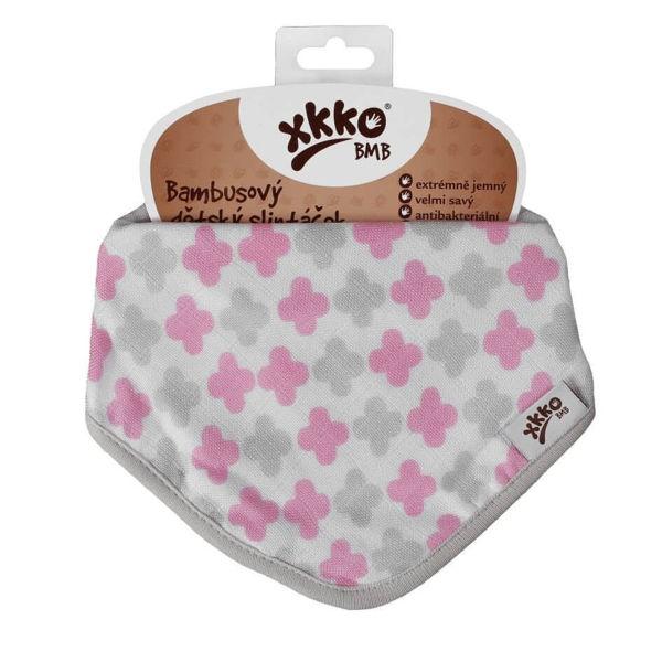 Obrázek Bambusový slintáček/šátek se vzory pro dívky XKKO