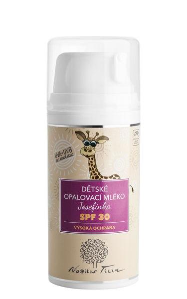 Obrázek Dětské opalovací mléko Josefínka SPF 30 100 ml Nobilis