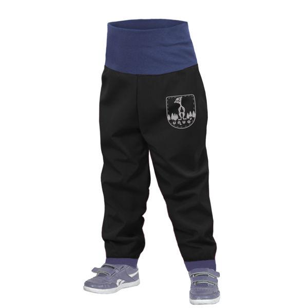 Obrázek Batolecí softshellové kalhoty bez zateplení, Černá Unuo
