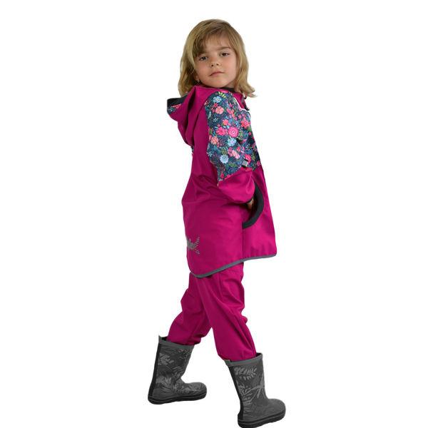 Obrázek Batolecí softshellové kalhoty bez zateplení SLIM, Malinová Unuo