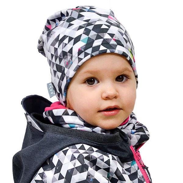 Obrázek Dětská čepice fleecová spadená Unuo