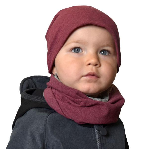 Obrázek Dětská čepice z teplákoviny spadená Unuo