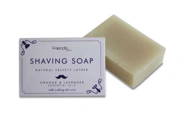 Obrázek Mýdlo na holení pomeranč a levandule 95 g Friendly Soap