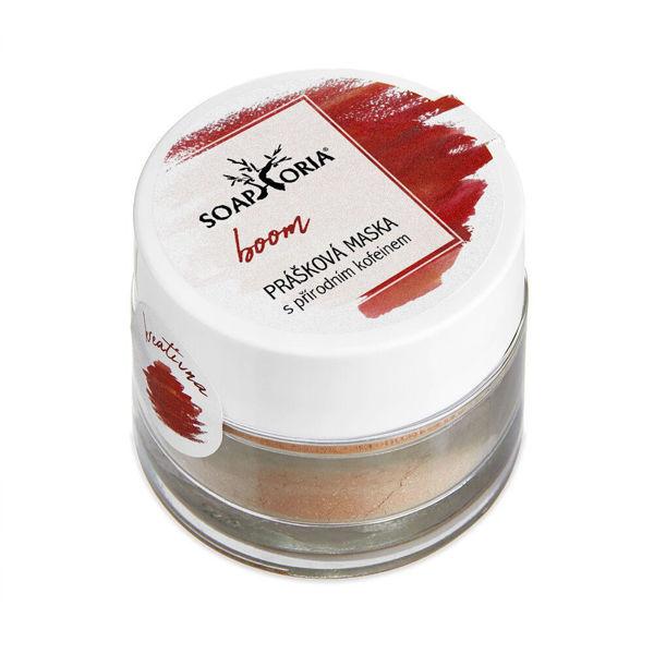 Obrázek Boom čistící prášková maska a čistič s kofeinem 50 ml SOAPHORIA