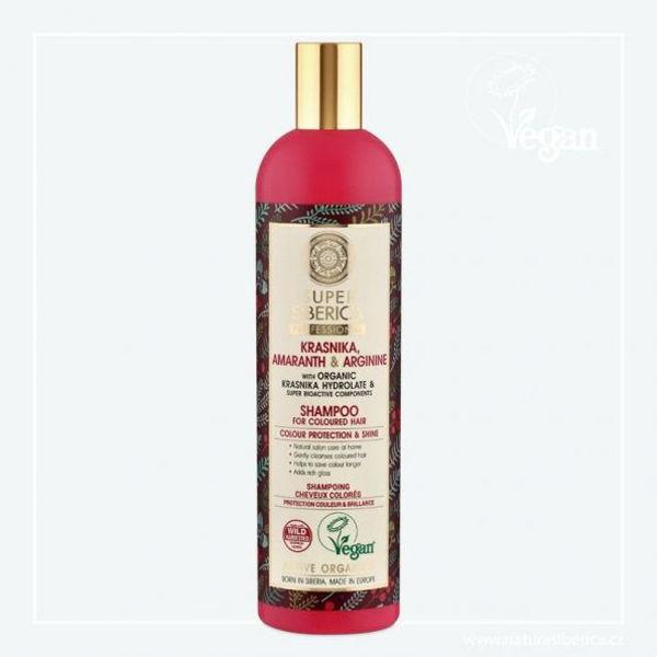 Obrázek Super Siberica Brusinka, amarant a arginin šampon pro obarvené vlasy 400 ml NATURA SIBERICA