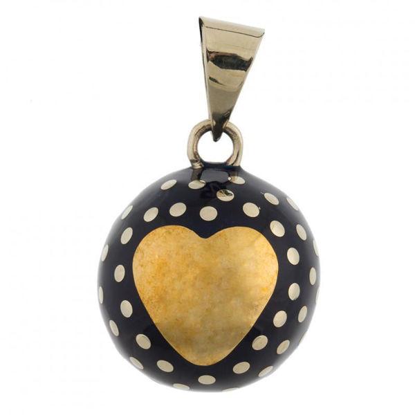 Obrázek Těhotenský šperk Bola heart with dots BABYLONIA