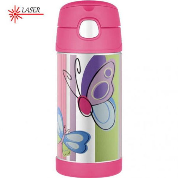 Obrázek Dětská termoska s brčkem motýl 355ml Thermos