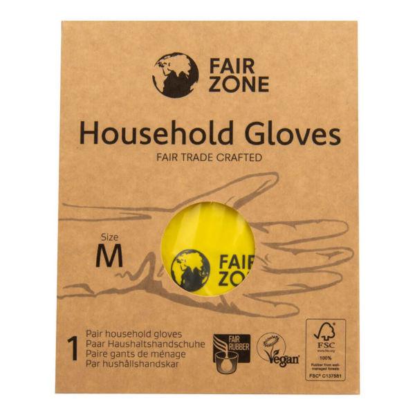 Obrázek Rukavice pro domácnost z přírodního latexu L FAIR ZONE FAIR SQUARED