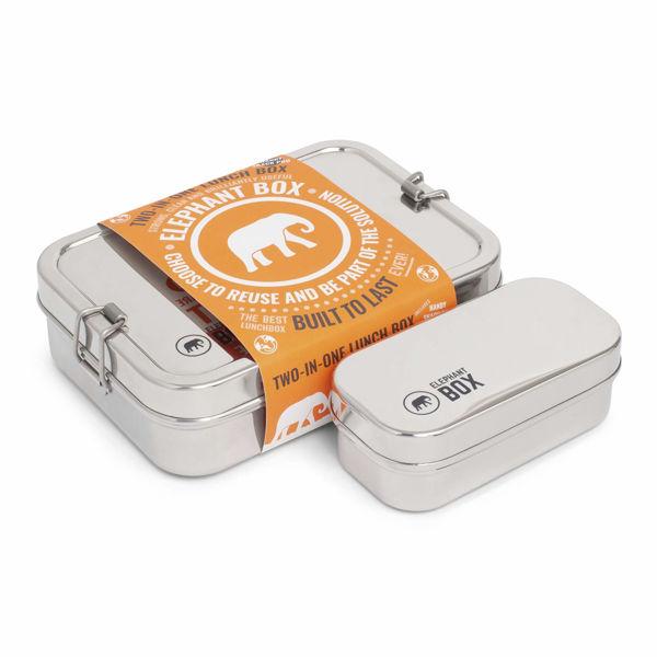 Obrázek Nerezový obědový box 2v1 Elephant Box